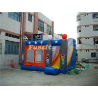 Wholesale Outdoor Kids Inflatable Bouncer Sport Theme Inflatable Bouncy Castle With Slide from china suppliers