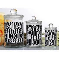Wholesale Customized Candle Glass Containers Storage Jar With Lid 710ml from china suppliers