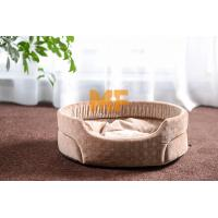 Wholesale Indoor Round Small Dog Kennel / Cat Kennel Pets Dog Bed With Fabric Material from china suppliers