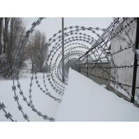 Wholesale Prison / Airport Fence Security Wire Ultra Durable Anti Aging Barbed Wire Coil from china suppliers
