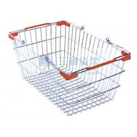Wholesale Red Plastic Part Steel Wire Supermarket Shopping Carts Basket from china suppliers