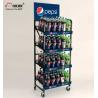 Buy cheap Set Brand Apart Wine Display Stand Metal Soda Water Bottle Display Rack from wholesalers