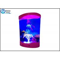 Wholesale Multicolored ABS Plastic Decorative Jellyfish Tank With 3 Silicone Simulation Jellyfish from china suppliers