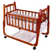 Wholesale Brown Wooden Design Automatic Baby Swing Bed with Brakes 99*61*85cm from china suppliers