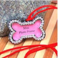 Buy cheap colorful enamel bone designed dog tag with bling from wholesalers
