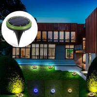 Wholesale External 8 Leds Solar Ground Lights / Garden Lawn Yard Solar Powered Sensor Security Light from china suppliers