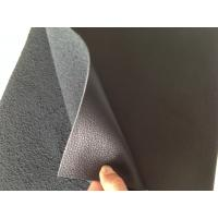 Wholesale Nappa Design Black Bonded Leather Fabric 1.0mm - 1.2mm Thickness from china suppliers