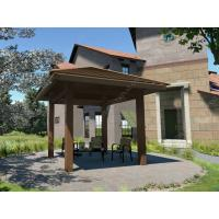 Wholesale WPC square gazebo kits for your garden 4m*4m /13ft.*13ft.*12ft.(OLDA-6001) from china suppliers