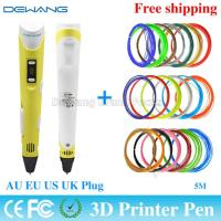 Wholesale Yellow handheld 3d printer pen with 0.4mm - 0.7 mm Nozzle Diameter from china suppliers
