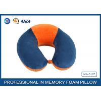 Quality Soft Ergonomic Shapeed Memory Foam Neck Cushion Traveling Pillow for sale