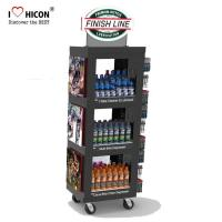 Buy cheap Free 3D Wine Display Stand Rendering Movable Tiered Display Stand With Custom Logo from wholesalers