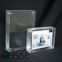 Wholesale 10mm+10mm ultra clear picture frame glass with magnets from china suppliers