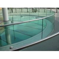 Wholesale Solid Curtain Wall Safety Curved Tempered Glass 4mm / 5mm Bulletproof from china suppliers