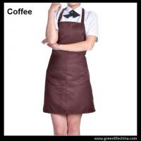 Wholesale Dirty resistant coffee color unisex working apron with 2pockets for coffee shop waiters from china suppliers