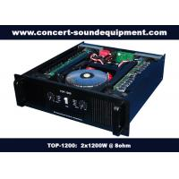 Wholesale Nightclub Sound Equipment / 2x1200W Class H High Power Analogue Amplifier For Subwoofer , Disco , Concert from china suppliers