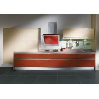 Wholesale Custom Wood Grain Laminate Kitchen Cabinets With Stainless Sink And Tap from china suppliers