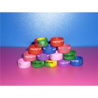 Wholesale Promational Colorful Sports Silicone Ring With Debossed Logo For Boys / Girls from china suppliers