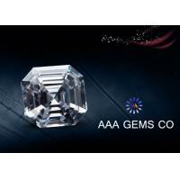 Wholesale White Color Asscher Cut Moissanite Loose Stones For Pendant / Earring from china suppliers
