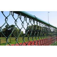 Quality Aluminum Industrial Chain Link Wire Mesh Vinyl Coated With Diamond Hole for sale