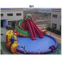 Wholesale 0.9mm PVC Inflatable Water Park Amusement Water Park With Slide / Tower from china suppliers