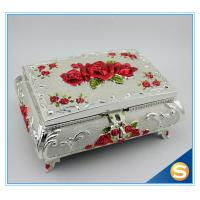 Wholesale Custom Elegant White Metal Enamel Jewelry Box from china suppliers