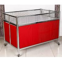 Wholesale Foldable Moving Supermarket Promotion Table / Durable Metal Shelf Cart With Castors from china suppliers