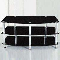 Wholesale TV Stand with 8mm Top, 5mm Middle, 5mm Bottom and Aluminum Legs from china suppliers