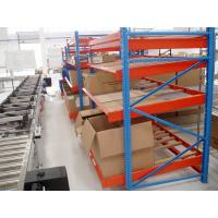 Wholesale Gravitational Rolling Fluent Carton Flow Rack , Blue Steel Storage Racks from china suppliers