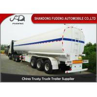 Wholesale 60000 Liters Diesel Tanker Trailers , Steel Fuel 2 / 4 Tri Axle Tanker Trailer from china suppliers