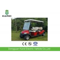 Wholesale Metallic Red Color Electric Fuel Type Golf Carts DC Motor 4 Passengers Cheap Golf Buggy For Sale from china suppliers