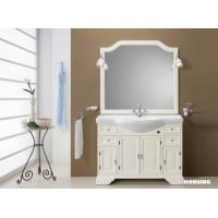 Bamboo modern bathroom cabinets vanities with white color for Modern bamboo bathroom vanity