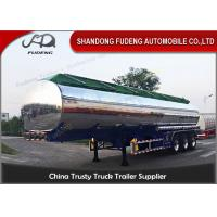 Wholesale FUWA axle petrol fuel tanker semitrailer stainless steel tank trailer sale from china suppliers