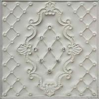 Wholesale 400*400 Mm 3D Leather Wall Panels Fire Resistant For Background Walls from china suppliers