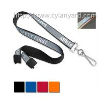 Wholesale Safety visible reflective neck lanyard strap, reflective strap lanyards, visible at night, from china suppliers