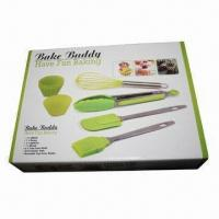 Wholesale 10-piece Silicone Bakeware Set, Made of 18/0 Stainless Steel Handle Material from china suppliers