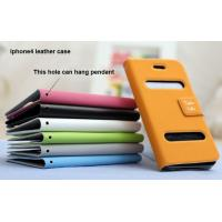 Wholesale iphone leather cases for iphone 4, iphone flip case from china suppliers