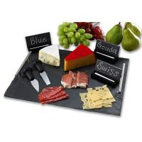 Buy cheap slate serving tray with stainless steel handles from wholesalers
