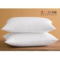 Wholesale White Cotton Hotel Comfort Pillows Super Soft Microfiber Filling from china suppliers