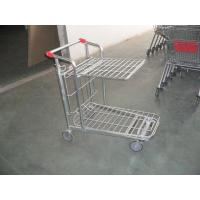 Wholesale Store supermarket Warehouse Cargo Trolley with foldable platform and 5 inch casters from china suppliers