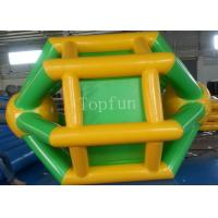 Wholesale Yellow / Green 3 * 2.8m Inflatable Water Wheel For Adult / Kids Summer Use from china suppliers
