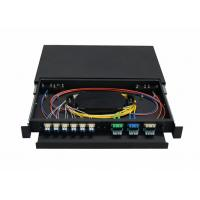 Wholesale 1U , 2U , 3U , 4U 19 inch Fiber Optic Terminal Box with Cold rolled steel from china suppliers