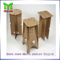 Wholesale Full Color Printing Recycled Cardboard Furniture , Foldable cardboard chair from china suppliers