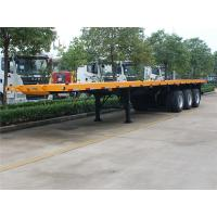 Wholesale 40ft / 45 Ft Flatbed Trailer , 3 Axle 45 Ton  50 Ton Flatbed Semi Trailer from china suppliers