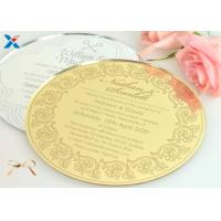 Wholesale Round Shape Acrylic Gifts / Acrylic Wedding Invitation Cards With Different Color from china suppliers
