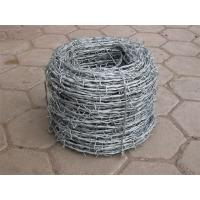Wholesale Plastic Coated 0.6mm Galvanized Iron Barbed Wire Double Twist For Industry from china suppliers
