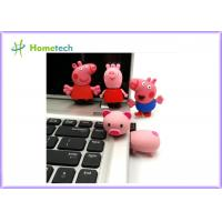 Quality Happy Big Family Pink Pig Customized Usb Flash Drive , Personalized Usb Key Cute Model for sale