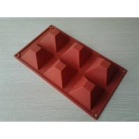 Buy cheap Chocolate 6 Holes Silicone Baking Moulds / Silicone Bakeware OEM Shaped for Ovens from wholesalers