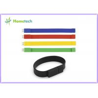 Wholesale Silicone Bracelet Rubber Band Wristband USB Flash Drive 1 Year Guarante from china suppliers