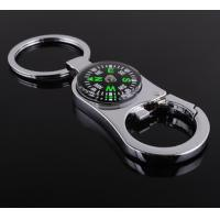 Wholesale Creative 2 in 1 Bottle Opener Compass Pendant Key Chain Keyring multifunction from china suppliers
