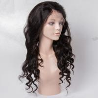 Wholesale Virgin Human Hair Lace Front Wigs No Shedding For Black Woman , Medium Brown Color from china suppliers